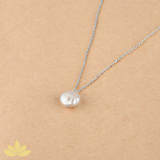 P015 - Baroque Pearl Pendant with Silver Chain
