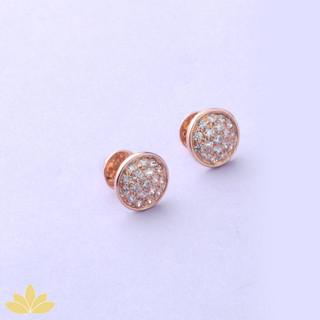 E035 - Rose Gold Disco Ball Earrings