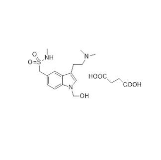 1-Hydroxymethyl-Indole-5-methanesulfonamide, 3-[2-(dimethylamino)ethyl]-N-methyl, succinate