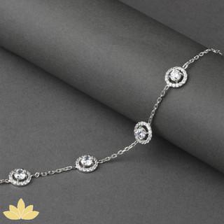 B013 - Silver 4-Stone Tennis Bracelet