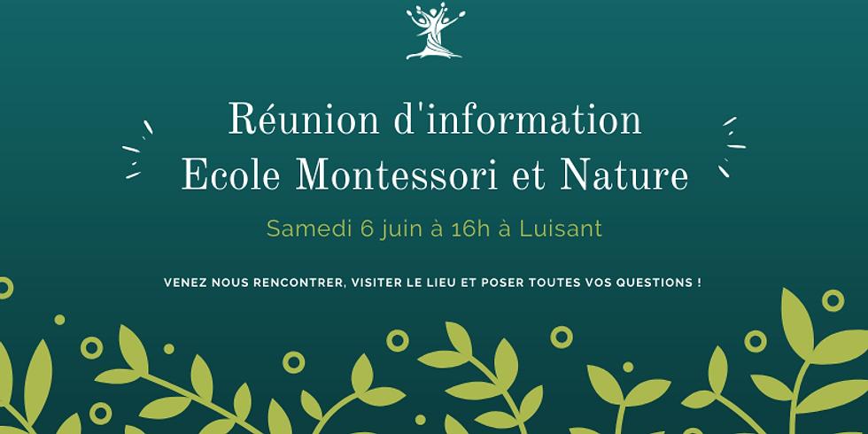 Réunion d'information collective école Montessori Luisant