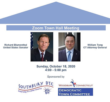 Website Zoom Town Hall Meeting with Sen.