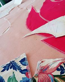 Détail confection robe