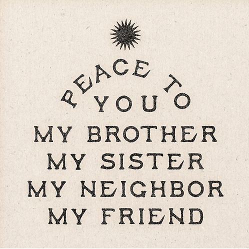 Art print 'Peace To My Brother'