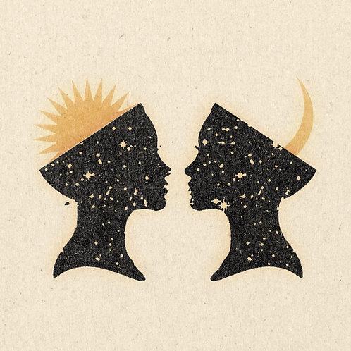 Art print  'Celestial Siblings'