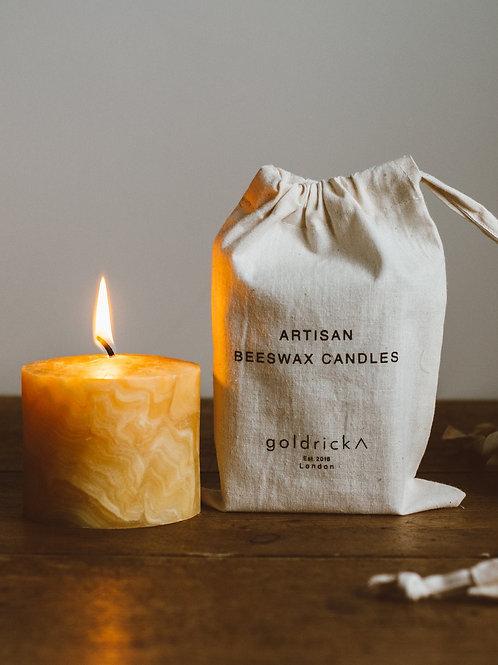 Marbled Beewax Candle / マーブル蜜蝋キャンドル