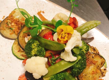 Vegetarische groenteschotel