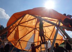 Habibi Dome _ Pop Up Aufbau in Obersendl