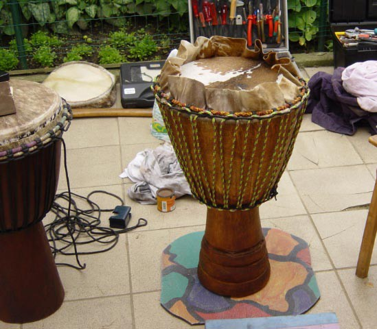 Djembe reparatie workshop