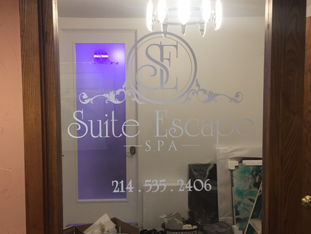 Glass Frosting for Suite Escape Spa