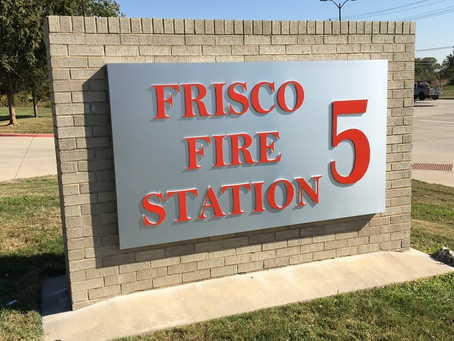 Sign for Frisco Fire Station