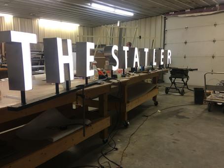 The Statler Hotel Series: LED Letters