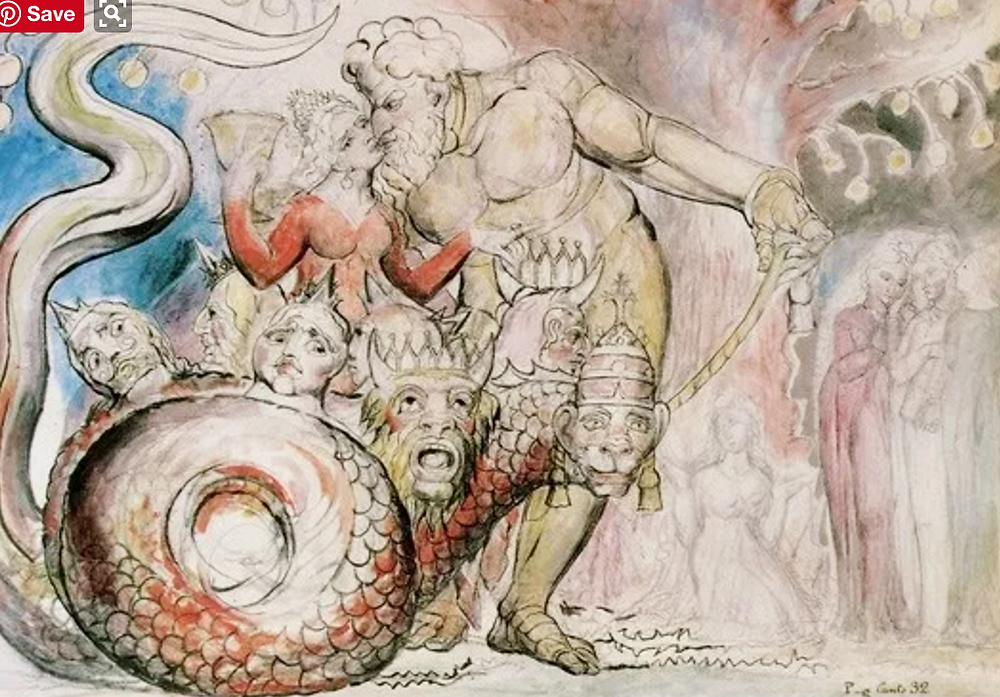 William Blake, Illustrations for the Divine Comedy