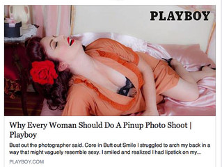 Playboy Magazine Article about Los Angeles Pinup Company Iconic Pinups, by Sara Benincasa