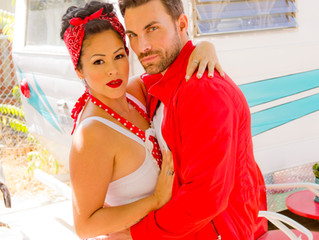 Retro and Vintage Makeup Los Angeles: Stacy Lande of Iconic Pinups will doll you up for your wedding