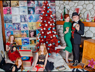 Holiday Family Photo Shoots in Los Angeles! Vintage and Retro with Makeup and Hair!