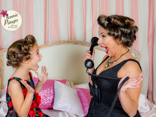Valentine's Day Mother and Daughter Pinup Retro Shoot in Los Angeles!