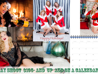 Christmas Photo Shoots Los Angeles: Boudoir, Burlesque, Maternity, Family Portraits!
