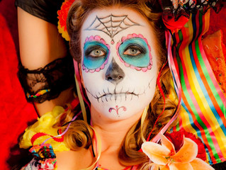 Los Angeles Halloween and Day of the Dead Pinup Photo Shoot with Makeup and Hair for $195!