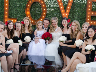 So Cal Wedding: Stacy Lande of Iconic Pinups does bride and bridal party hair and makeup at Oviatt P