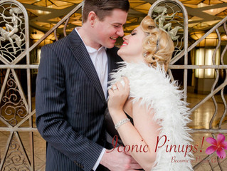 Vintage and Retro Engagement Photography in Los Angeles: Carol Sheridan and Iconic Pinups