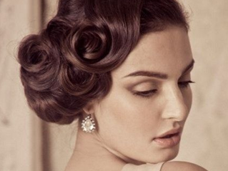 Retro and Vintage Wedding Makeup and Hair in Los Angeles by Iconic Pinups