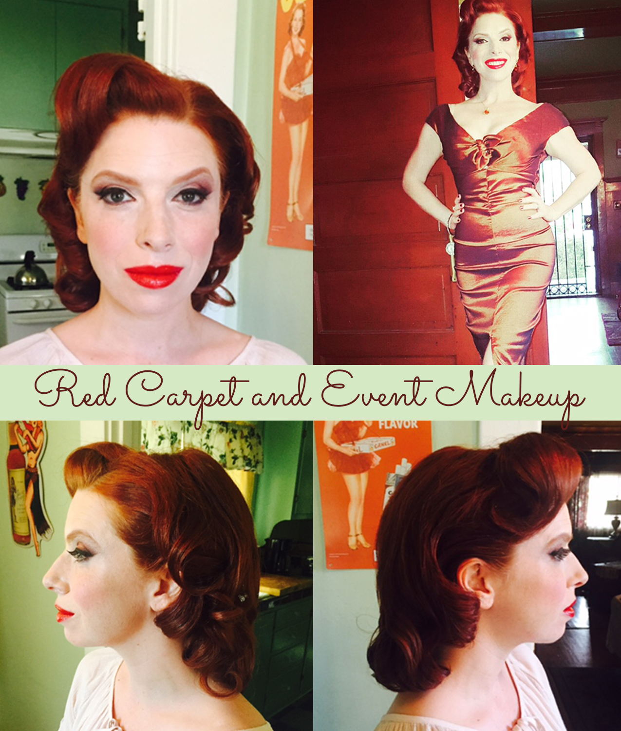 Vintage makeup and hair Los Angeles