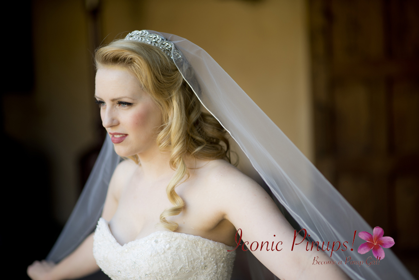 Gorgeous bridal makeup and hair
