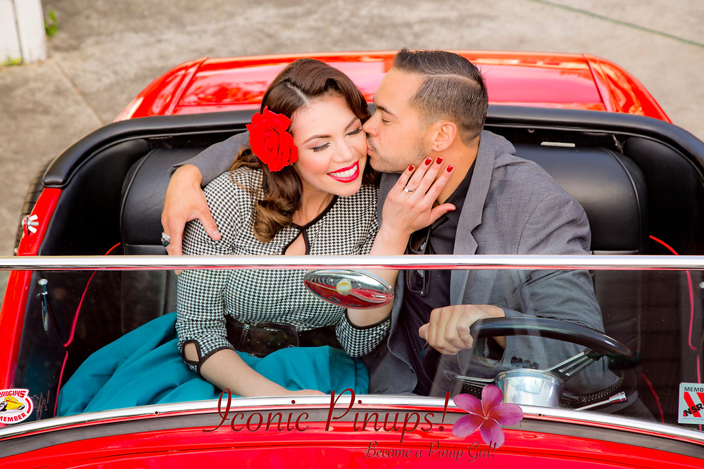 Hot Rod Engagement / wedding shoot Los Angeles