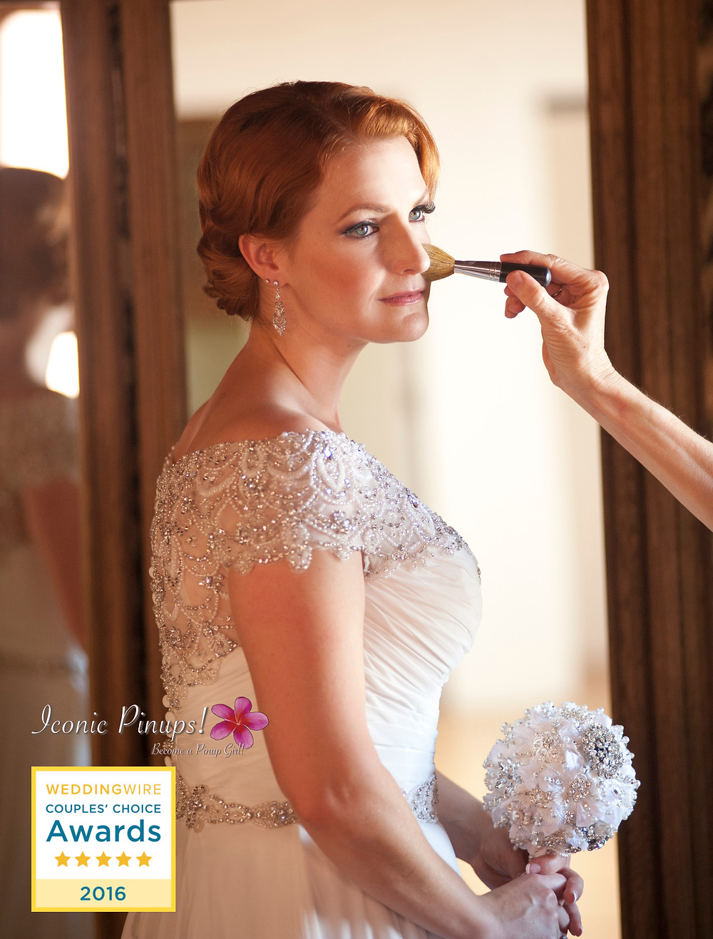 Gatsby Vintage Retro Bride Makeup and Hair and Photography for Los Angeles Wedding at the Carondelet House!
