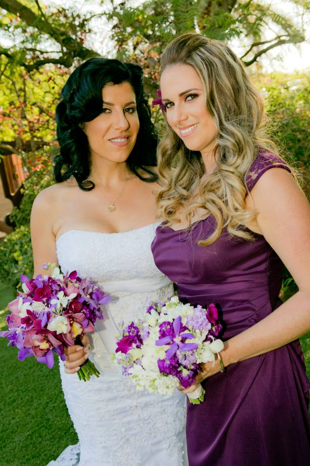 Malibu Wedding Makeup and Hair
