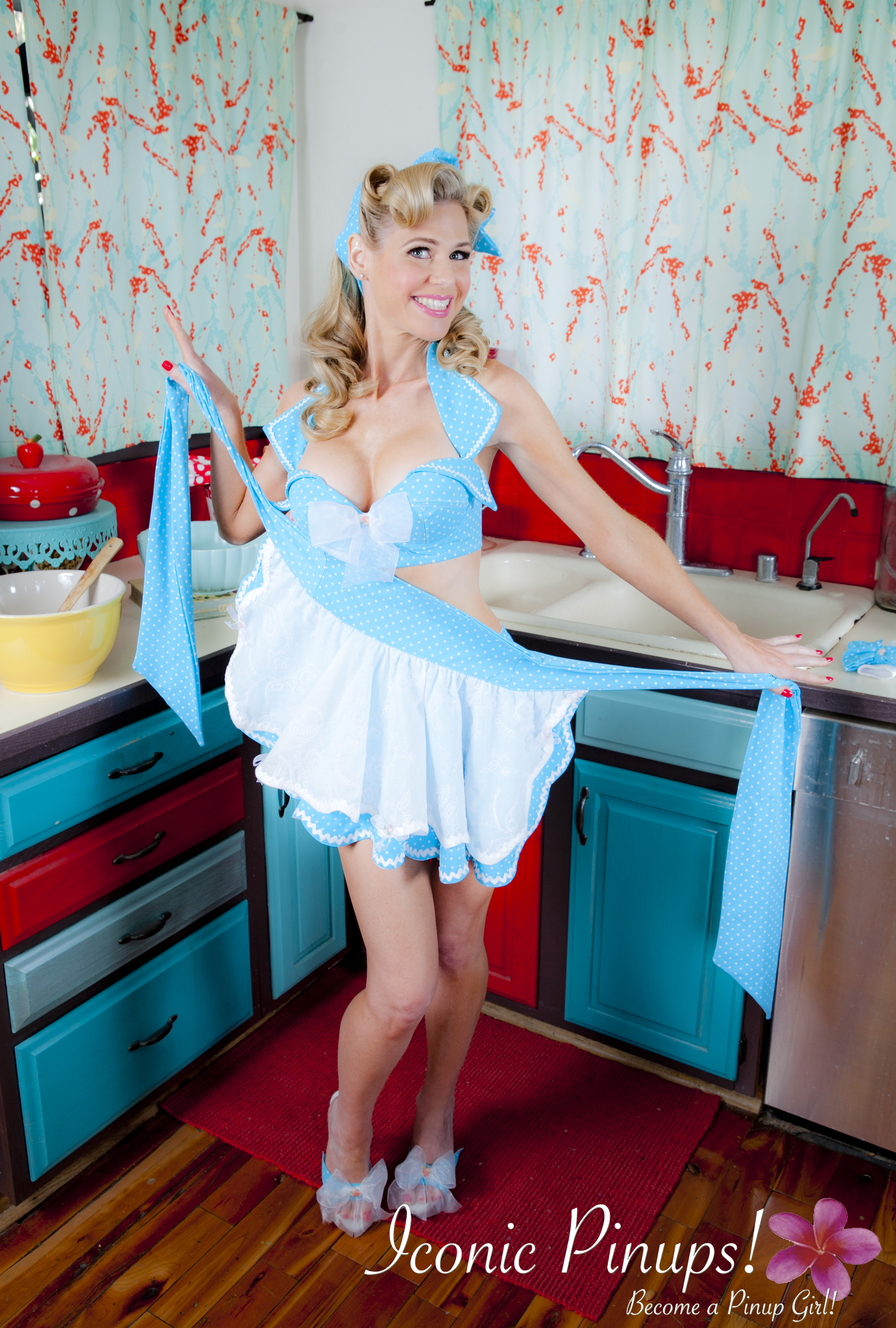 retro kitchen shoot