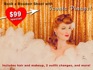 Valentine's Day in Los Angeles Gets You a Sexy Retro Boudoir Shoot for $99!