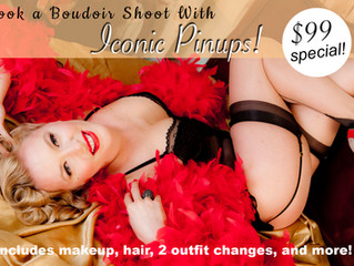 Valentine's Day Gifts in Los Angeles and $99 Boudoir Retro Vintage Photo Shoot!