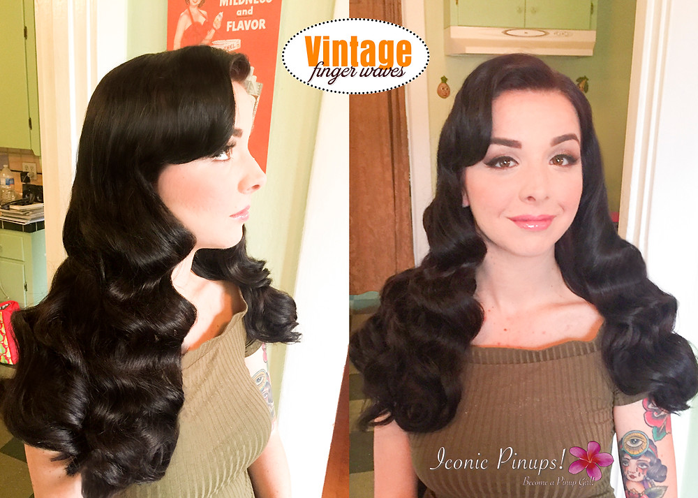 Finger waves hairstyle bridal