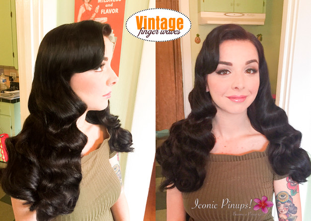Vintage Finger Wave Hairstyles Southern California Brides
