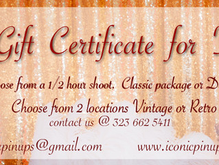 Los Angeles Christmas Gift of a Boudoir Photoshoot: Gift Certificates for that Pinup Girl in your Li