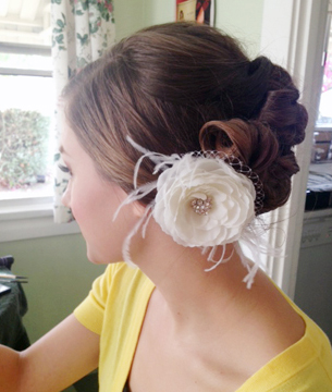 Vintage bridal hairstyle Los Angeles