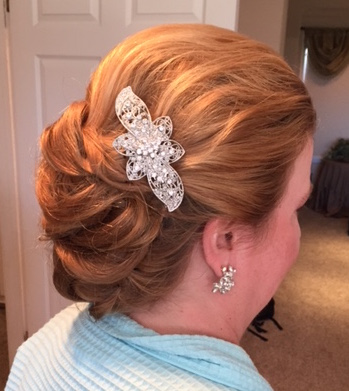 Elegant Wedding up-do Los Angeles