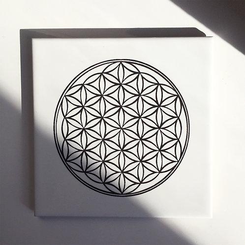 """Flower of Life"" Sacred Geometry Altar"