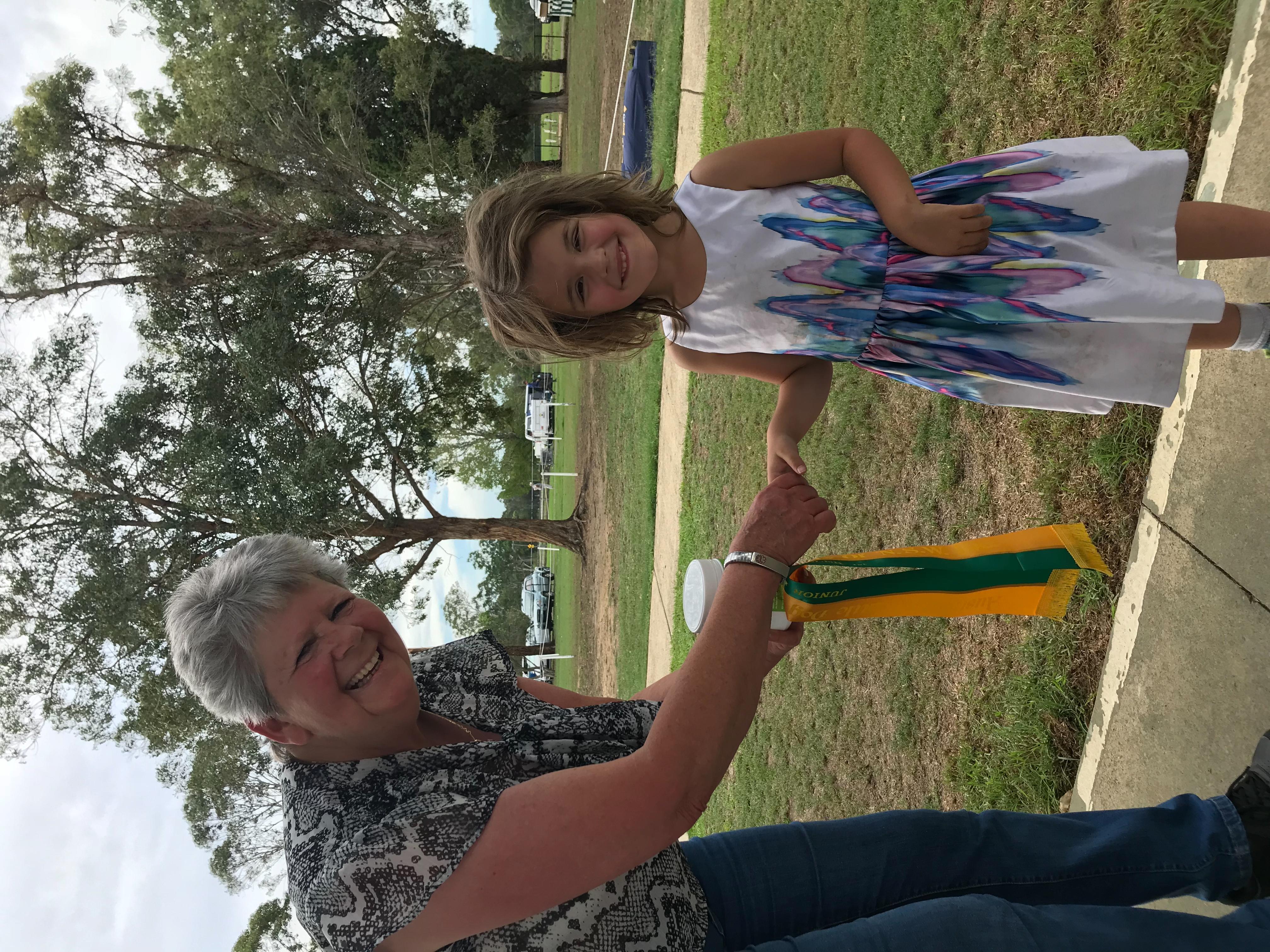 Charli winning Tiny Tot Handlers