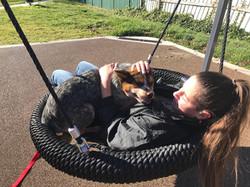 Jolene and Sasha at the park