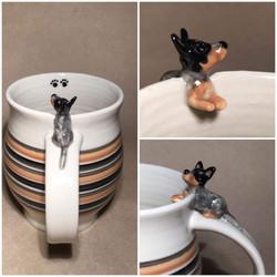 Lucys custom mug by Carcoar Pottery