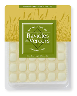 Packaging Ravioles du Vercors