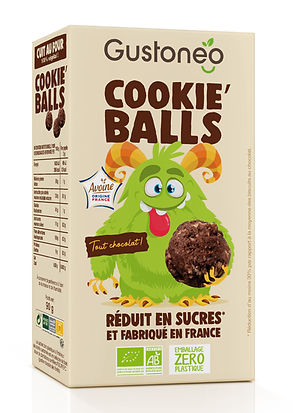 Packaging Cookie'balls tout choco