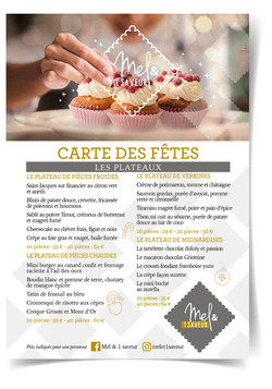 Flyer traiteur Noel
