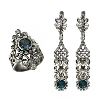 exclusive jewelery, unique jewelry, St. Petersburg mysteries, alexandrite, diamonds, handwork, jeweler Igor Orlov