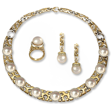 exclusive jewelery with pearls, aphrodite, jeweler Igor Orlov