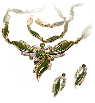 exclusive jewelery, unique jewelry, green magic, necklaces, earrings, demantoid, hot enamel, jeweler Igor Orlov