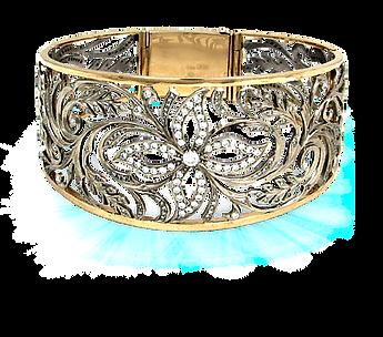 exclusive bracelet, unique jewelry, flora, diamonds, handmade, jeweler Igor Orlov